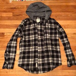 AE hooded flannel